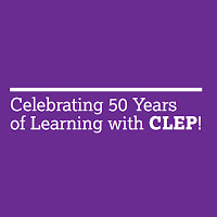 Purple poster: Celebrating 50 Years of Learning with CLEP