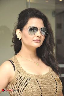 Actress Madhavi Sharma Pictures in Black Jeans at Deccan Film Society Launch  0010.jpg