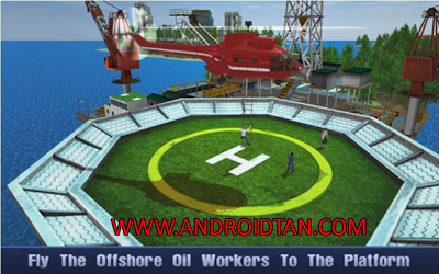 Download Offshore Oil Helicopter Cargo Mod Apk v1.2 (Unlimited Money) Terbaru 2017