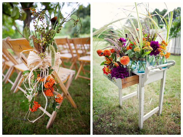 autumn rustic barn wedding | https://www.oh-lovely-day.com/2012/02/real-wedding-alexandra-michael-rustic.html