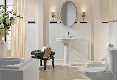 Las cortinas en el cuarto de baño