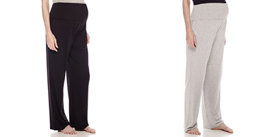 ea0dc6b569 Head to over JCPenney right now and snatch this Sleep Chic Maternity  Overbelly Pajama Pants in black (size small) and heather grey (sizes small  to large) ...