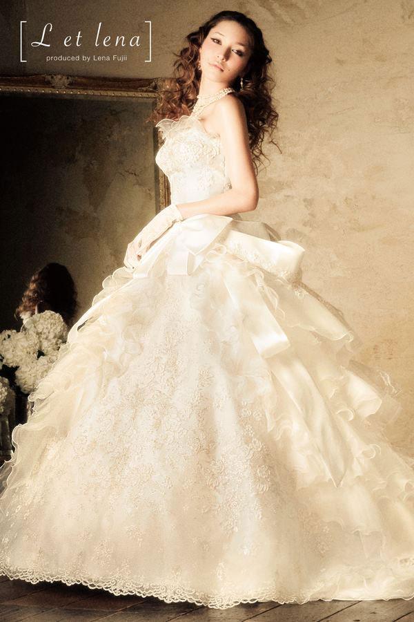 L et lena wedding dress by Lena Fujii