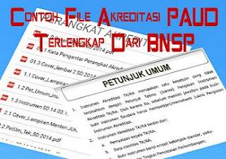 Contoh File Akreditasi PAUD Terlengkap Dari BNSP