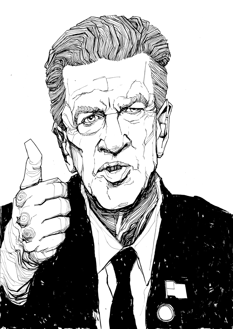 David Lynch Gordon Cole drawing