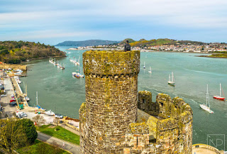 View over Conwy from Castle Tower