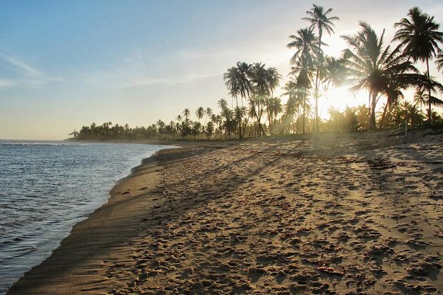 Caminhada entre Imbassaí e Praia do Forte, na Bahia.