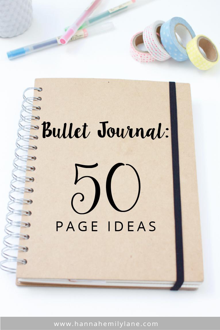 bullet journal 50 page ideas. Black Bedroom Furniture Sets. Home Design Ideas