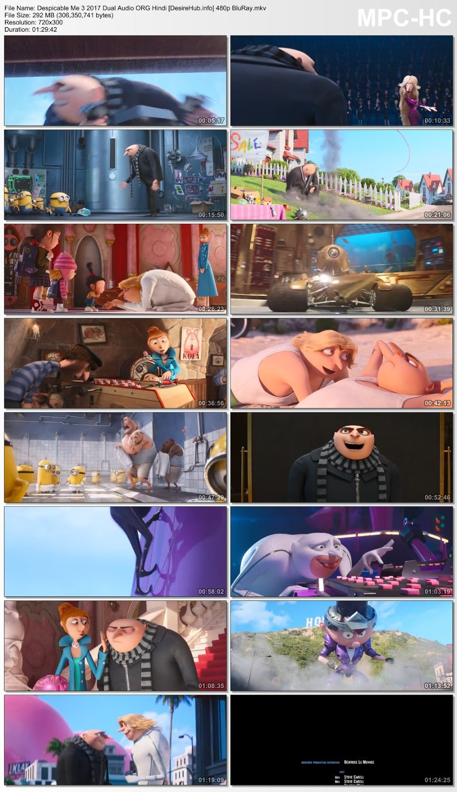 Despicable Me 3 2017 Dual Audio ORG Hindi 480p BluRay 280MB Desirehub