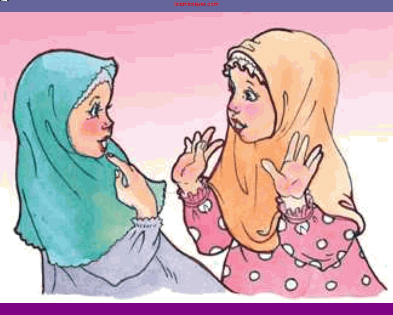 Gambar Kartun Muslimah Dua Orang Gambar Kartun