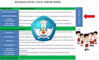 Aplikasi Excel Master Tata Tertib Siswa dengan Tabel Grafik Perkembangan