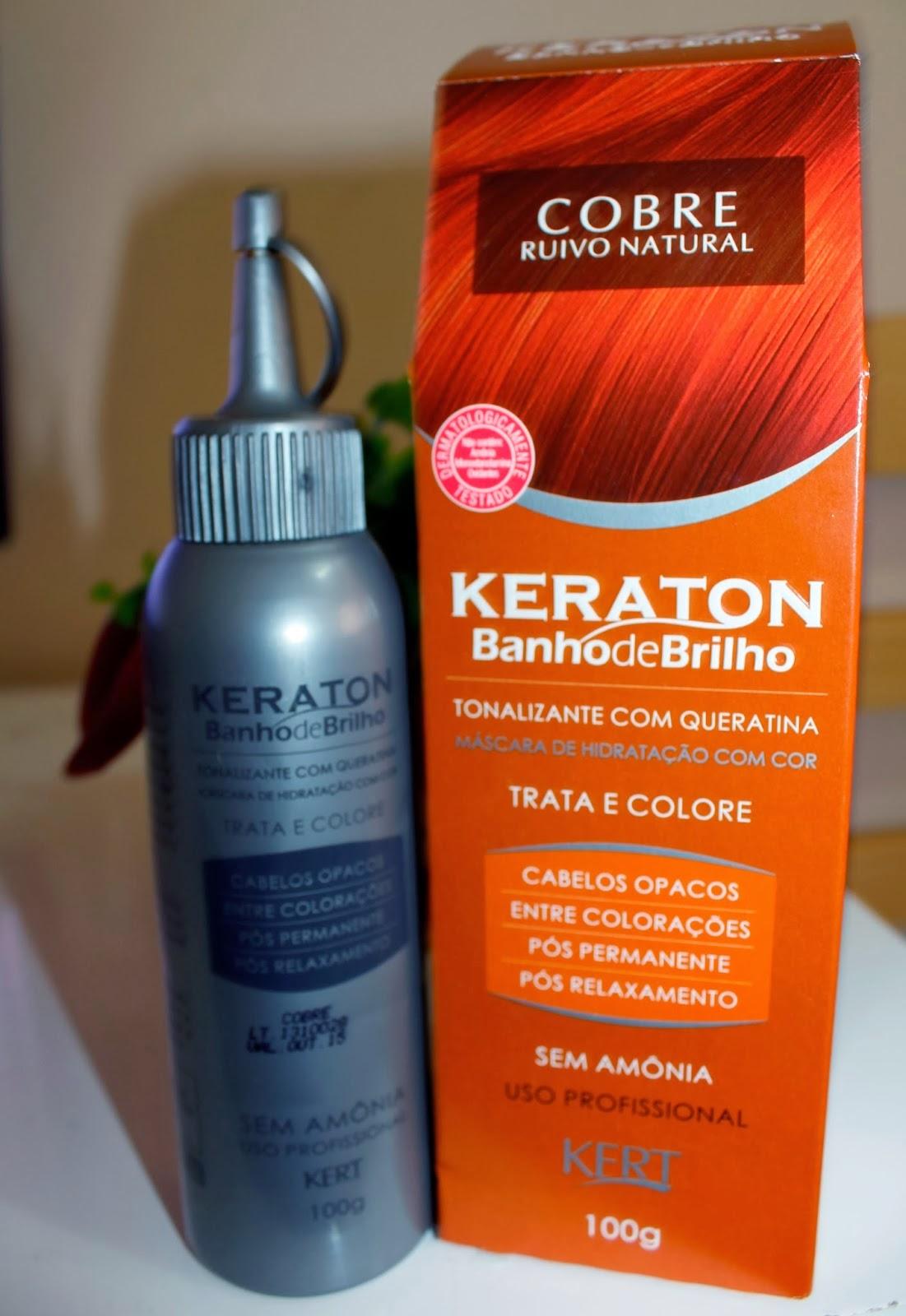 Banho de brilho com Keraton Cobre