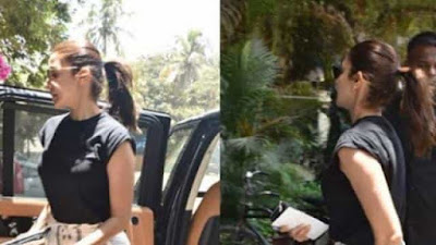Anushka Sharma spotted outside Physiotherapy clinic at Mumbai for back pain problem