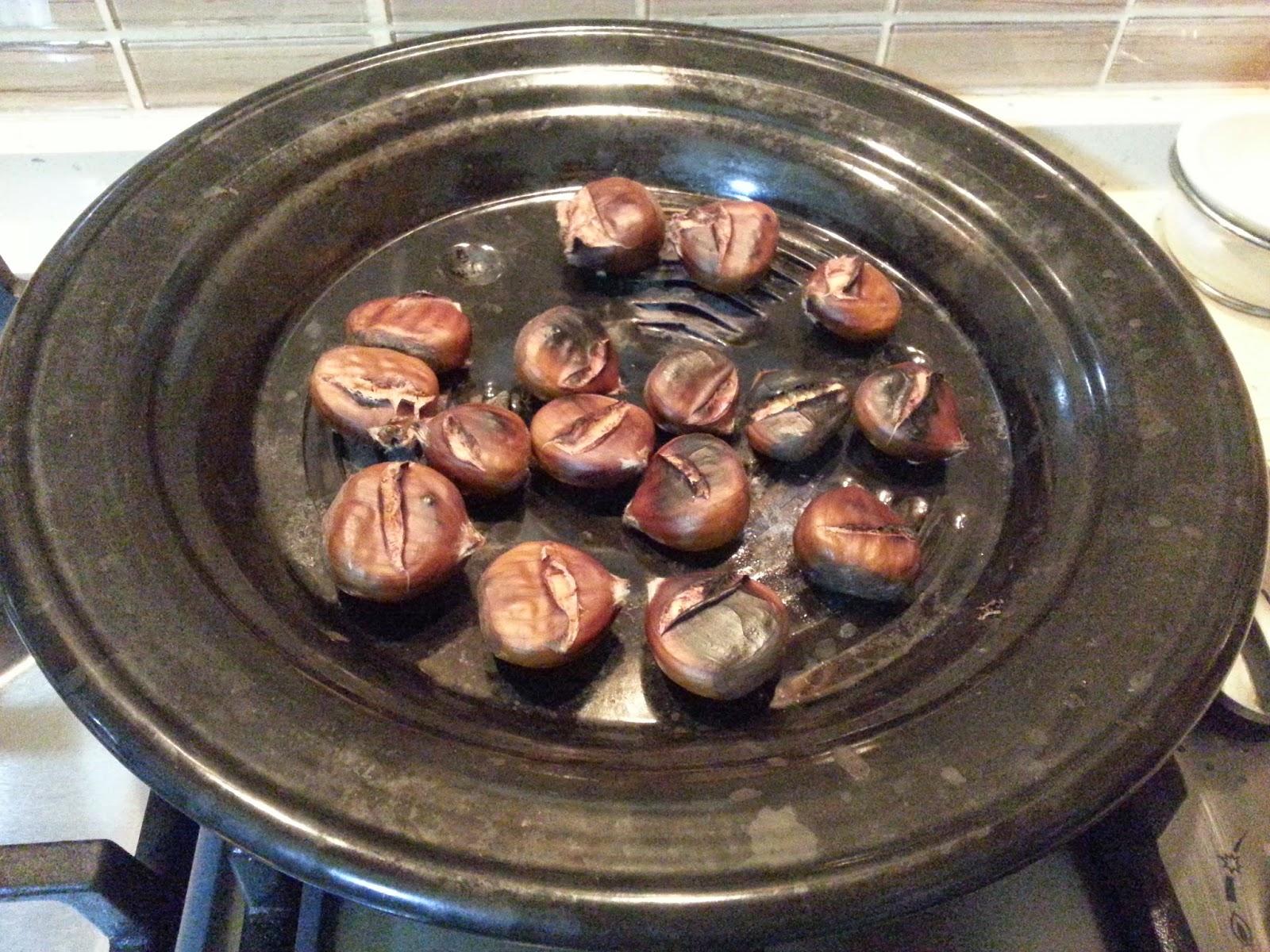 Evde Kestane Pişirilmesi