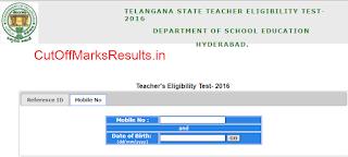 Telangana TET Admit card 2016