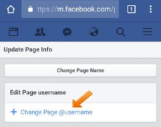 make new username in facebook