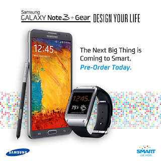 Samsung Galaxy Note 3 and Galaxy Gear watch pre-order at Smart Postpaid Plan