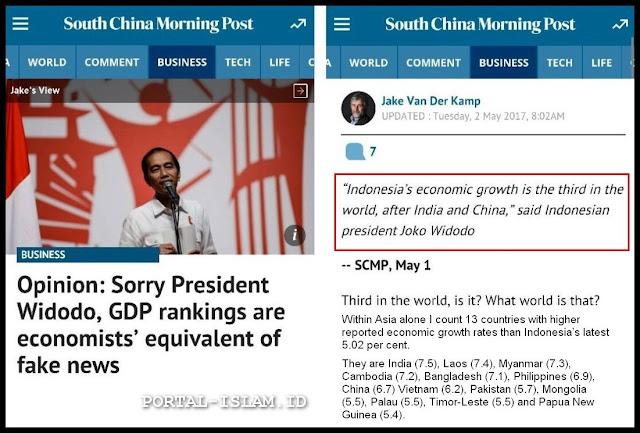 "DISEBUT HOAX, Pernyataan Jokowi di Hongkong ""Pertumbuhan Ekonomi Indonesia Terbesar Ke-3 Dunia"", Jadi Olokan Dunia"