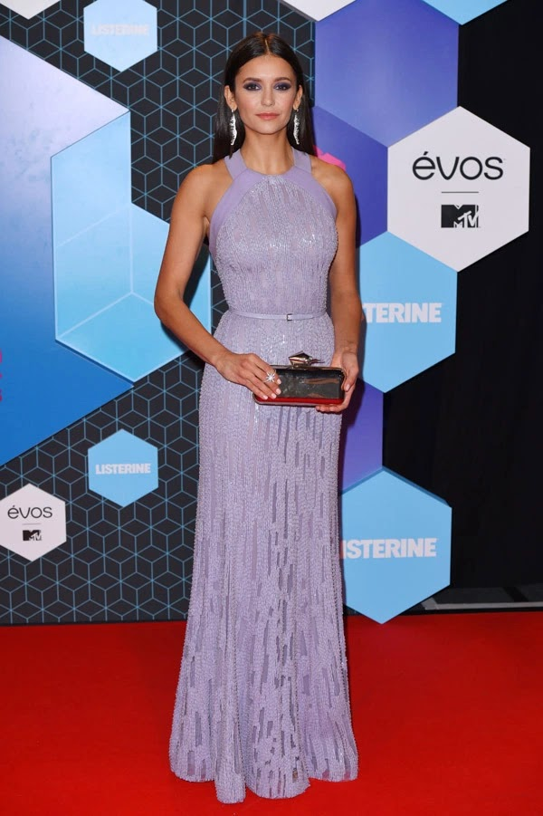 Nina Dobrev attends the MTV Europe Music Awards