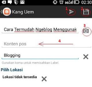 Cara Termudah Ngeblog Dengan Aplikasi Blogger di Android