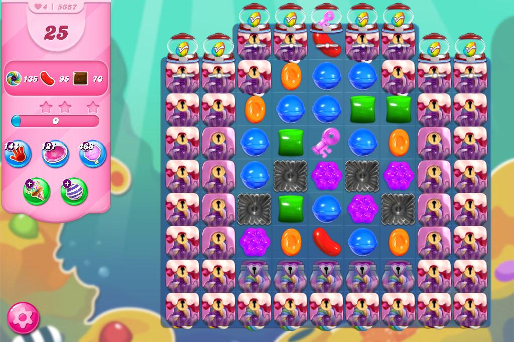 Candy Crush Saga level 5687