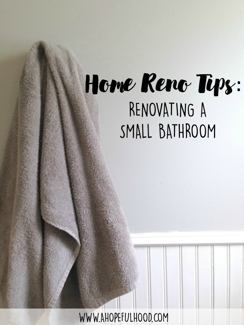 Before and afters of our bathroom renovation + 5 tips for remodeling a small bathroom // via @ahopefulhood