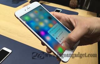 Kelebihan iPhone 6S terletak pada fitur 3D Touch
