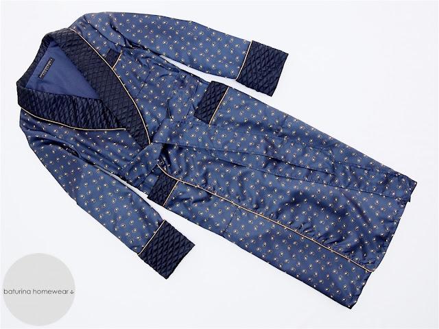 herren hausmantel english paisley seide dunkelblau morgenmantel blau lang elegant luxus exklusiv
