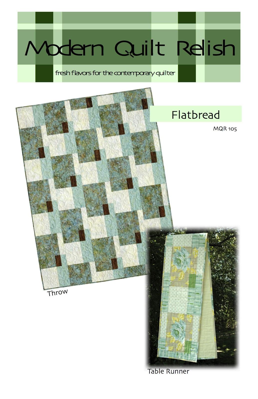 Modern quilt relish urbanicity fabric flatbread pattern for Modern house quilt pattern