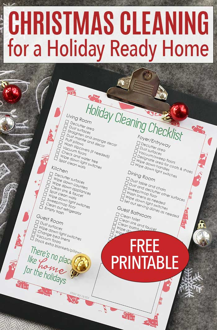 Free printable Christmas cleaning checklist to get your house ready for the holidays! #ad #Endust #cleaning #cleanhouse #holidayhome