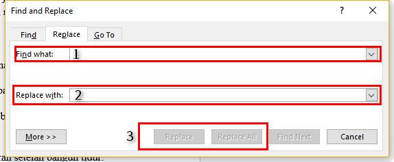 Cara Mudah dan Cepat  Untuk Mengganti Kata Yang Sama Secara Otomatis Sekaligus di Ms. Word