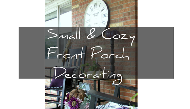 Decorating a small porch for Fall
