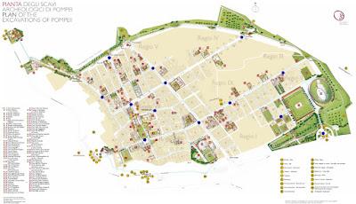 Mappa Scavi di Pompei