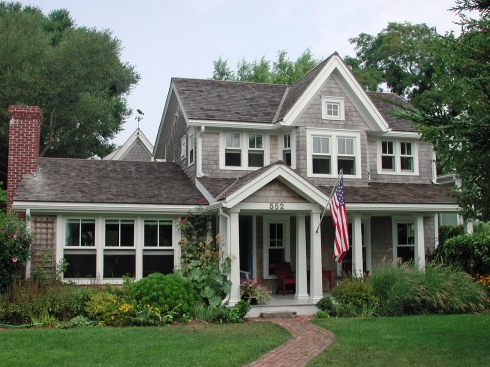 Front porches the american flag for One and a half story homes