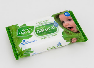 Jackson Reece, baby wipes