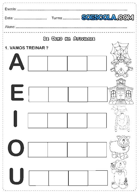 Atividades 1° ano português alfabeto
