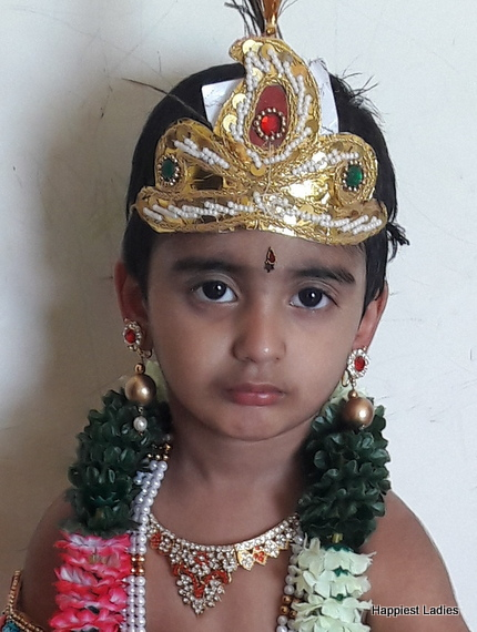 jewelled crown for krishna dress