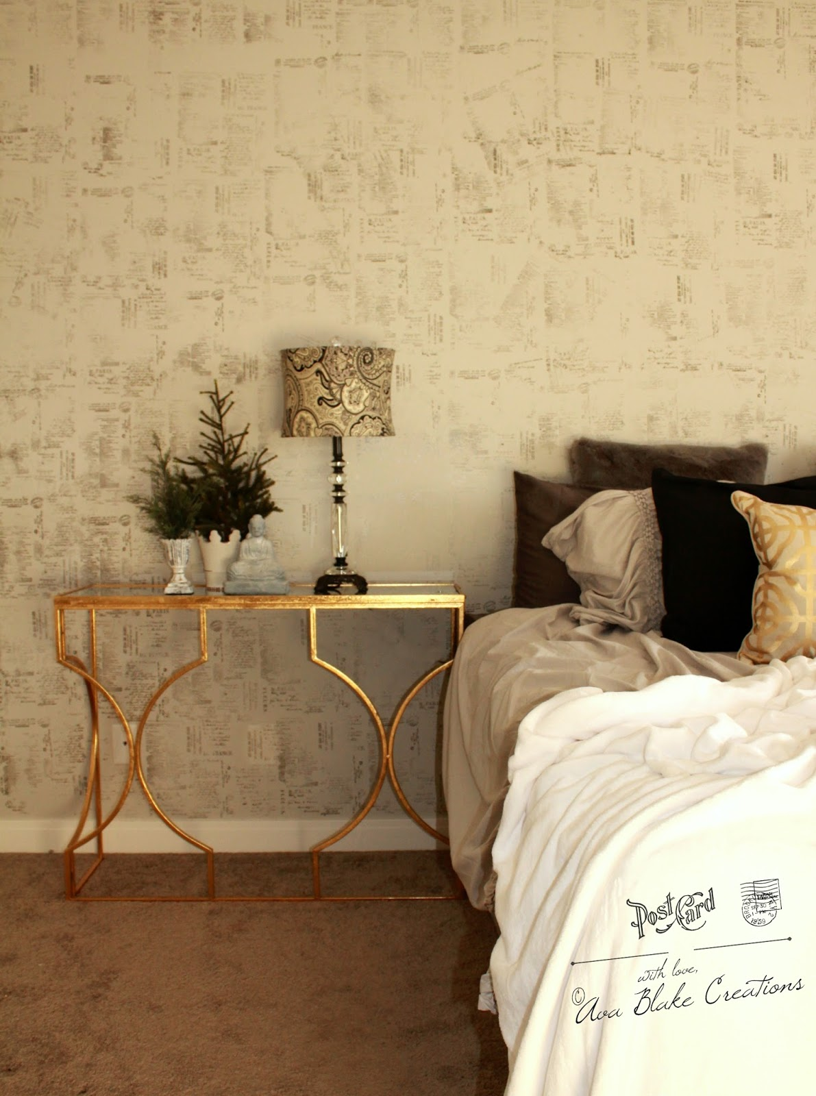 25 minute Master Bedroom Makeover with IOD Furniture Stamps