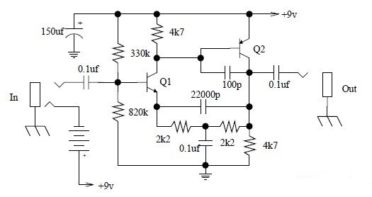 Simple Tone Booster Schematic Diagram
