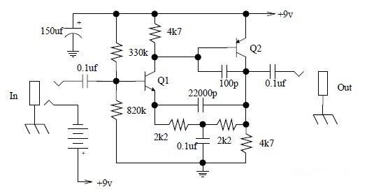 Diagram Ingram  Simple Tone Booster Schematic Diagram