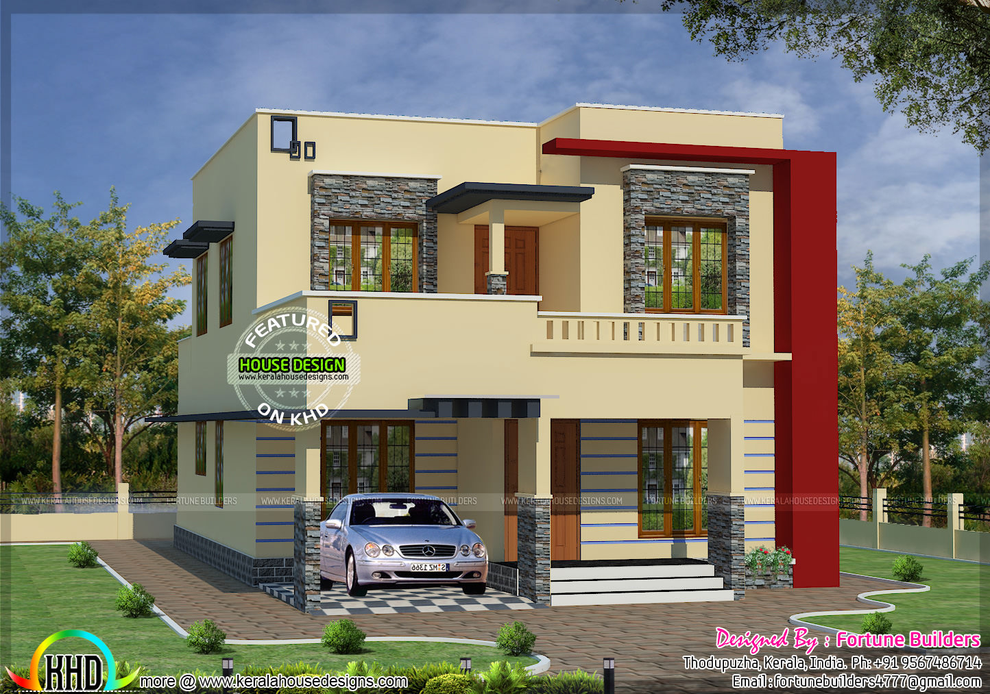 1690 sq ft low budget modern home kerala home design and for Budget home builders
