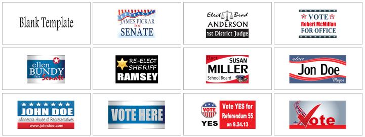 Political Yard Sign Templates