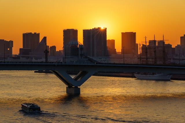 晴海大橋からの夕景