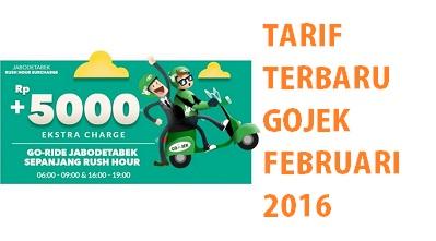 tarif baru gojek februari 2016, tarif terbaru gojek februari 2016, tarif gojek februari 2016