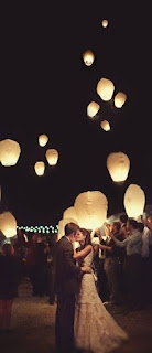 wedding grand exit lanterns