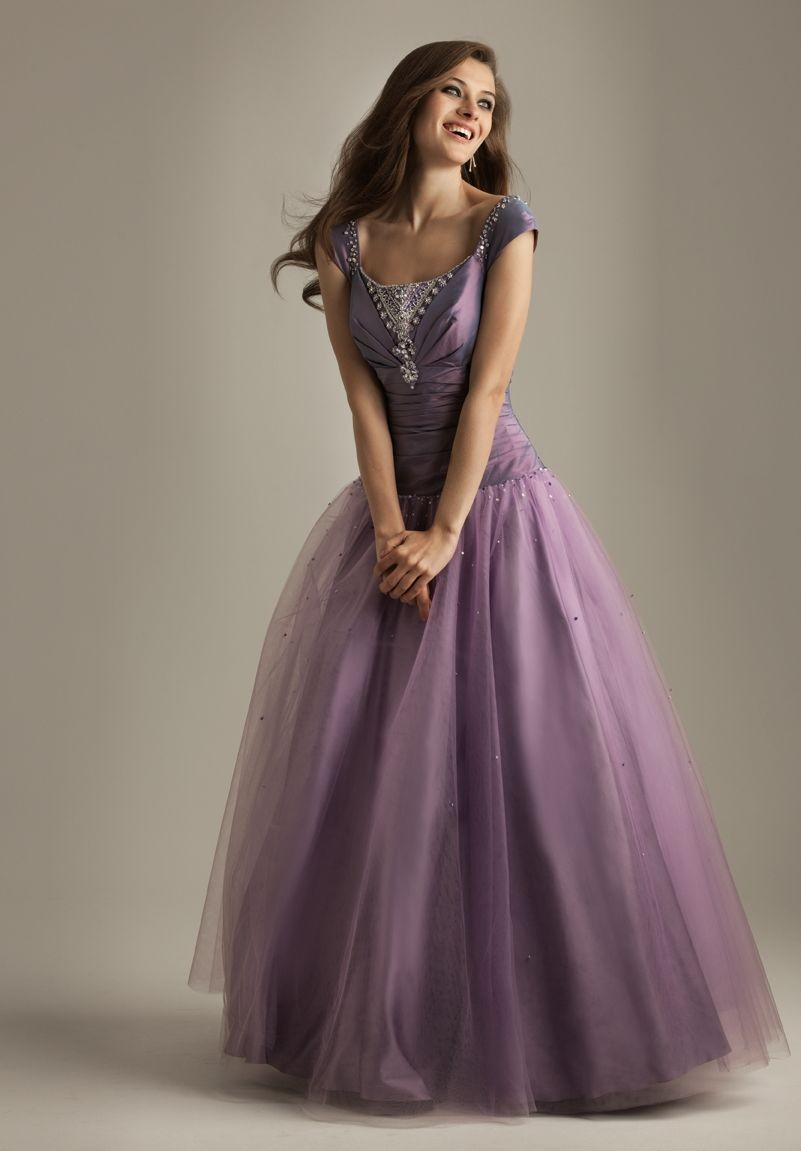 WhiteAzalea Ball Gowns: Shining Purple Ball Gowns