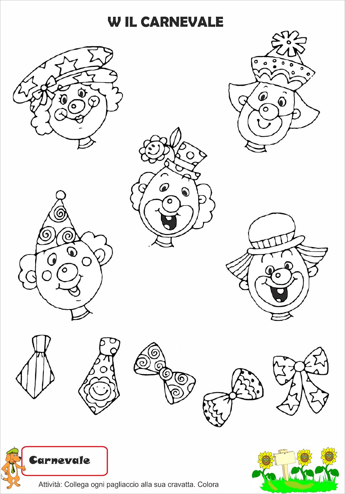 A Scuola Con Poldo Schede Di Carnevale 5
