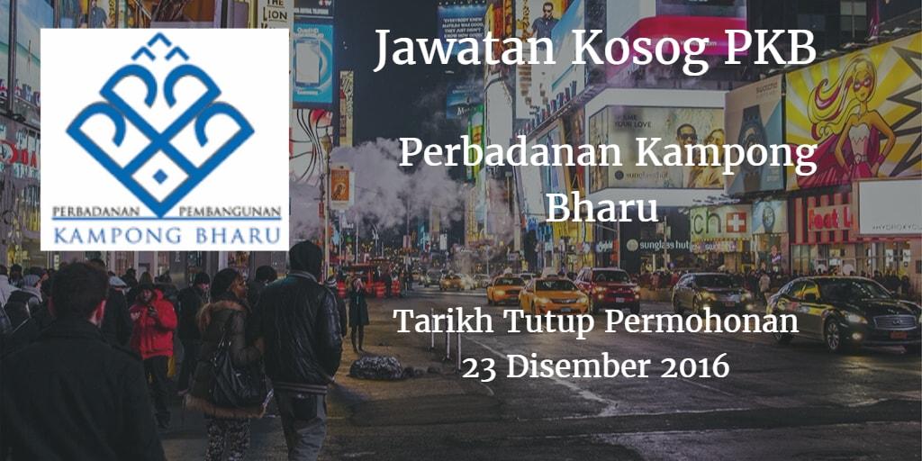 Jawatan Kosong PKB 23 Disember 2016