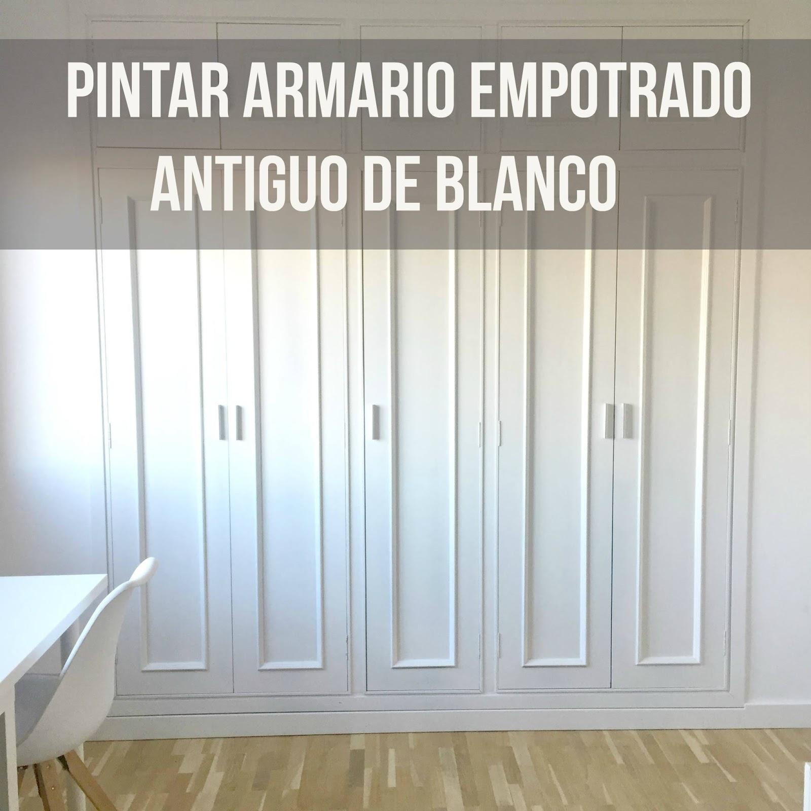 Pintar armarios empotrados antiguos de blanco my kitsch - Como hacer puertas de armario ...