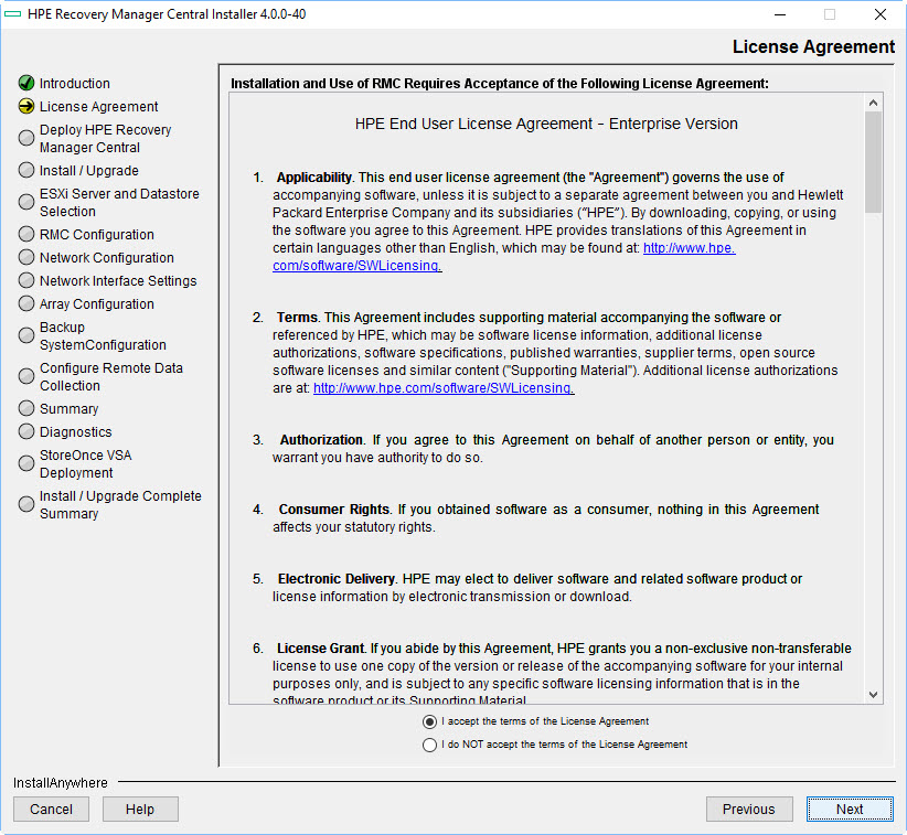VMware Snapshots: HPE Recovery Manager Central